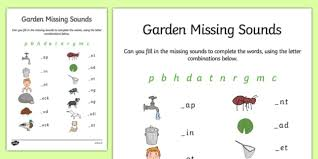 Massive impact in their writing of tricky words. Garden Missing Initial Sounds Worksheet Worksheet