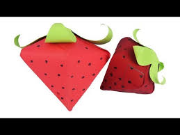 How To Make Diy Paper Strawberry Easy Craft Tcraft