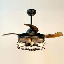 flush mount caged ceiling fan. Delighful Mount Caged Ceiling Fan Inch Industrial With Remote Control Retractable Blades  Small Fans Lights   To Flush Mount Caged Ceiling Fan E
