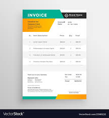 Quotation On Design Abstract Invoice Quotation Template Design Vector Image