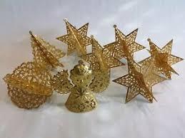 Details Zu Alter Weihnachtsschmuck Christbaumschmuck Eckartina Gold Metall Engel
