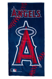 mlb anaheim angels blue red beach towel 30 x 60 cotton officially license
