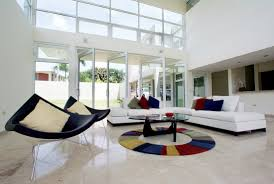 architecture and interior design. Wonderful Interior Architecture Interior Design For White Living Room With Sectional Sofa Plus  Colorful Cushions Glass Top Inside Architecture And Interior Design B