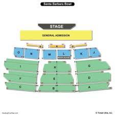 Santa Barbara Bowl Seating Chart View Santa Barbara Bowl Map Seating Chart Concert D1softball Net