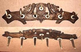 Antler Coat Racks Elen Hunting Importing Inc Black Forest Carved Antler Coat Rack 30