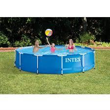intex above ground swimming pool. Intex 12\u0027 X 30\u0027\u0027 Metal Frame Above Ground Swimming Pool With V
