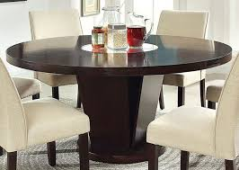 dining table with lazy susan incredible large round 72 intended for 5