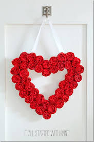 tissue paper rosette valentine day wreath 3 2