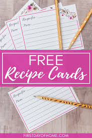 Recipe Card Templates Free Free Printable Recipe Cards With Easy Download Instructions