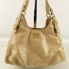 Coach Madison Maggie Embossed Gold Hobo