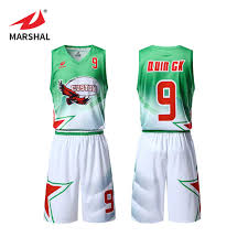Basketball Jersey Design White Green Zhouka Custom Team Training Mesh Basketball Jersey Uniform