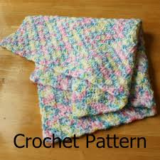 Crochet Baby Blanket Patterns For Beginners Cool Crochet Baby Blanket Pattern Simple Shell Pattern Easy On Luulla