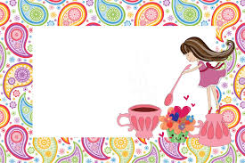 Tea Party Free Printables Girls Tea Party Free Printable Invitations Oh My Fiesta