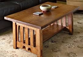 free mission style coffee table plans