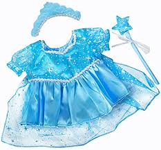 Blue Snow Princess Gown Teddy Bear Clothes Fits ... - Amazon.com
