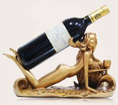 Decorative Wine Bottle Holders Women Sculpture Wine Bottle Holder FeelGift 15
