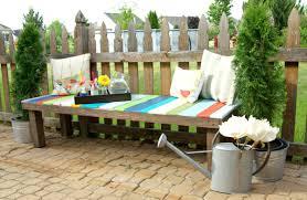 pallet furniture garden. Colorful Wood Pallet Garden Bench, Homedit Cotributing Article Furniture R