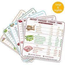 Instant Pot Cooking Times Chart Quick Reference Guide 5 Pcs Instant Pot Cheat Sheet Magnets Stronger Magnetic Cheat Sheet Food Cooking Time Chart Clearly Read With 100 Food