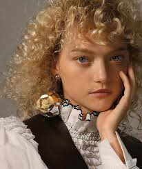 gemma ward models blonde curls in the fashion editorial