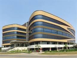 office facade. Pattern-painted Aluminium Office Facade