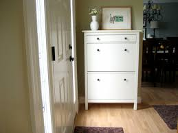 shoes cabinets furniture. Furniture. White Wooden Shoe Storage Cabinet With Two Placed On The Brown Flooring Shoes Cabinets Furniture