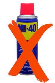 don t use wd 40 to fix garage door noises