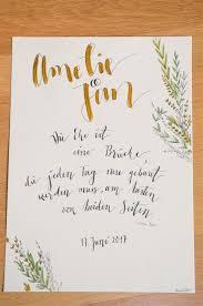 Geschenk Zur Hochzeit Wandbild Mit Spruch Und Illustration