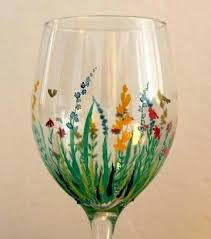 painting wine glass ideas wine glass crafts painting wine glass ideas painting on glass field of painting wine glass