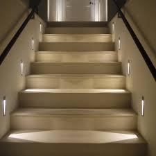Home Interior:Cool Stair Way Lighting Idea With Modern Led Starway Lights  Cool Stair Way