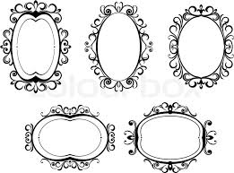 Vintage frame design oval Powerpoint Border Colourbox Antique Vintage Frames And Borders Stock Vector Colourbox
