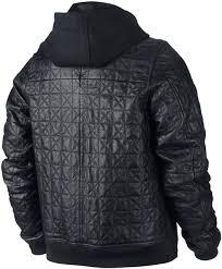 thumbnail image 2 air jordan leather letterman mens jacket black air jordan leather