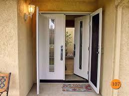 white double front door. Home Door Modern White Upvc Front 60x80 Therma Tru Fc1sg Fiberglass Double Entry U