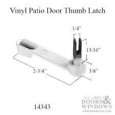 milgard v 2 latch locking handle 1 3 16 thick door choose color