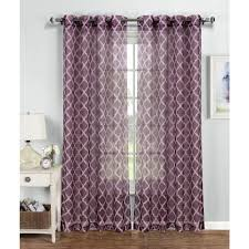window elements sheer quatrafoil printed sheer extra wide 54 in w x 84 in