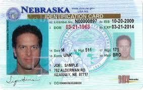 State id Department Vehicles Card Identification Motor Nebraska Of