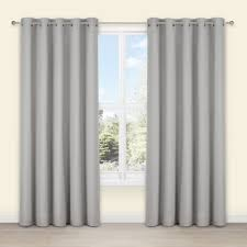 Salla Concrete Plain Woven Eyelet Lined Curtains (W)167
