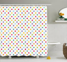 Bradford Colorful Polka Dots Shower Curtain