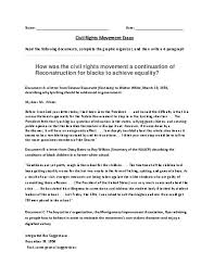 essay about civil rights civil rights movement and martin luther king essay