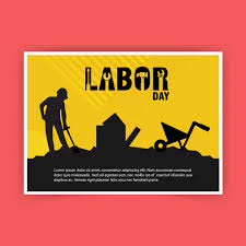 labor day theme labour day card with typography and pink theme vector vector