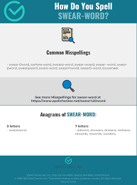 A spelling alphabet is also often called a phonetic alphabet, especially by amateur radio enthusiasts. Correct Spelling For Swear Word Infographic Spellchecker Net