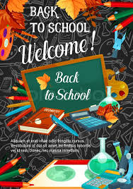 Welcome Back To School Banner Template Stock Vector