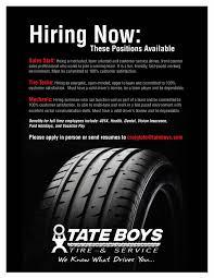 bartlesville ok tires shop jobs tate boys tire service jobs