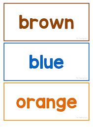 Printable flash cards can be saved as pdf files. Color Words Flashcards Free Printable The Teaching Aunt