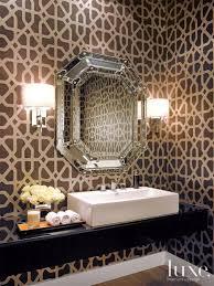 powder room with floating vanity