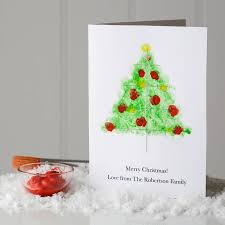 Christmas Card Picture 10 Personalised Finger Paint Christmas Cards By Twenty Seven