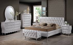 Modern White Leather Bedroom Furniture | Home Interior Design