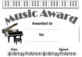 Piano Certificate Template Free Editable Music Certificate Template Free And Customizable