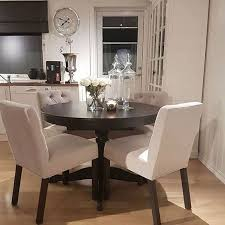 Dining Room  Small Dining Space With Geometric Wallpaper Small Dining Room Ideas