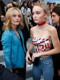 Lily-Rose Depp, 16, adds <b>colour</b> to the FROW, joining mum <b>Vanessa</b> ...