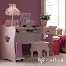 mia girls pink wooden princess study desk